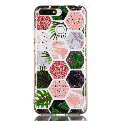 Candy Color Marble Soft TPU Phone Case for Huawei Y6 2018 / Honor 7A