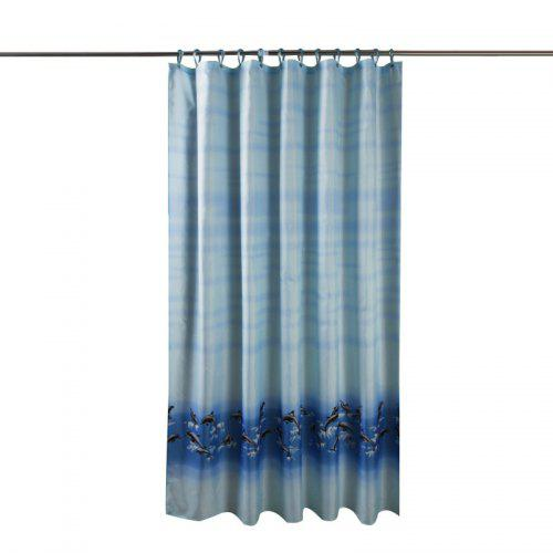 Dolphin Thick Waterproof And Mildew Polyester Cloth Shower Curtain