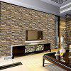 Simulation Rock Brick Decoration Wallpaper Stickers - BROWN
