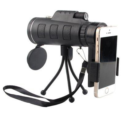 HD40x60 Monocular High-Powered Mobile Phone Telescope with Tripod Phone Clip Set