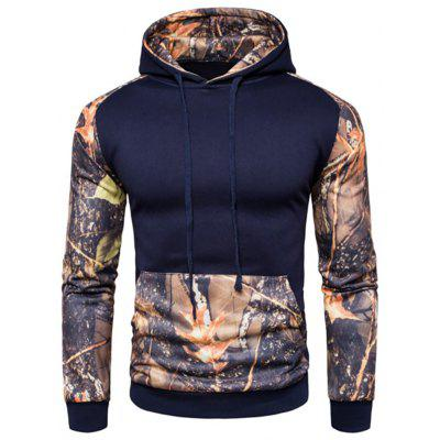 Men's Casual Sports Hit Color Digital Print Hoodie