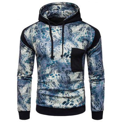 Men's Casual Sports Digital Print Hoodie