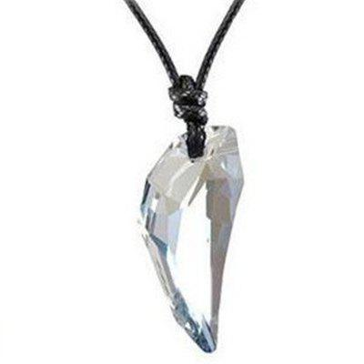 Wolf Tooth Crystal Pendant Necklace