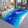 Dolphin Modern Simple 3D Printing Exquisite Living Room Bedroom Carpet Door Mat - MULTI-A