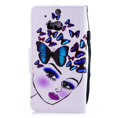 Color Painting Flip Wallet Cover for HTC One M8 / M8s Phone Case