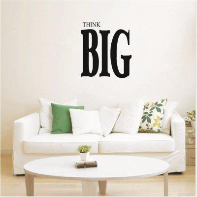Think Big Art Vinyl Mural Home Room Decor Wall Stickers Removable
