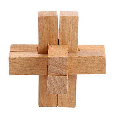 Traditional Wooden Locks Puzzle Magic Cube Toy