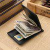 Men Money Clip Minimalist Wallet Slim Front Pocket Card Holder - BLACK