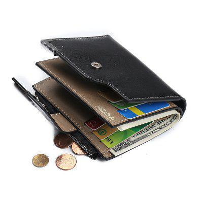 Fashion Wallets for Men with Coin Pocket ID Card Holder Purse Clutch with Zipper