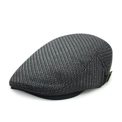 Autumn and winter cotton and linen woven beret casual trend forward cap + adjust