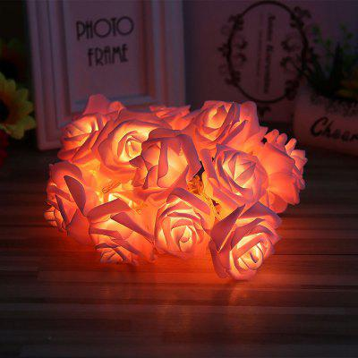3M Rose Flower LED String Lights Battery Case Decorative for Christmas Wedding