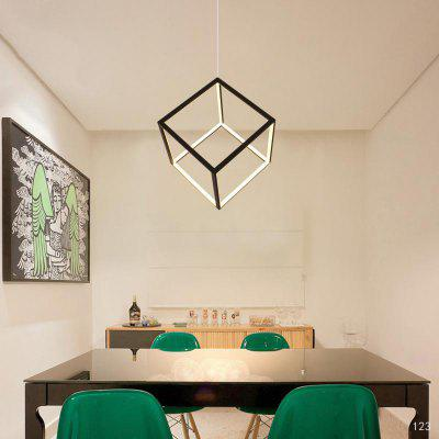 Simple Personality Four Cuboid Chandelier is Suitable for the Living Room