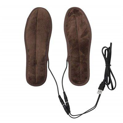 Electric Insoles Foot Warmers Plush Winter Insoles Heating Insoles USB Powered