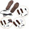 Electric Insoles Foot Warmers Plush Winter Insoles Heating Insoles USB Powered - BROWN