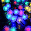 BRELONG Colorful Waterproof Holiday Decoration 100LED String Rope Servel - WHITE