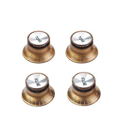 Set Yellow Silver Top Hat Knob for Gibson for Les Paul