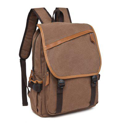 ZUOLUNDUO Canvas Backpack Exquisite Workmanship Vertical Style Backpack