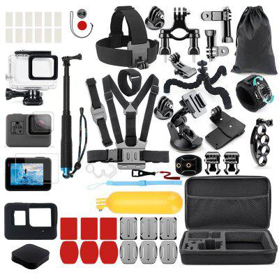 Accessories Kit for GoPro Hero 7 / 6 / 5 Black Head Chest Strap Mount Monopod