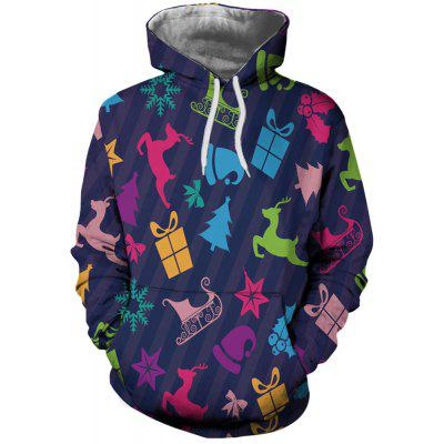 Fashion Women's Christmas Gift Pattern 3D Printing Large Size Hoodie Sweater