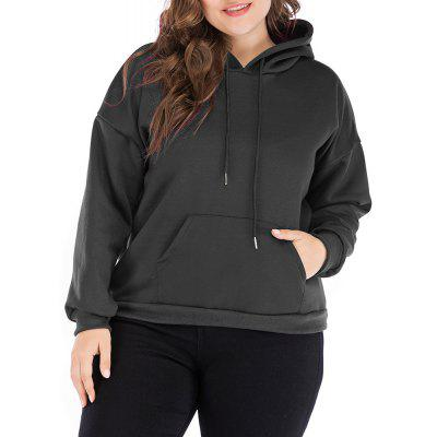 Large Size Women's Loose Hooded Long-Sleeved Sweater