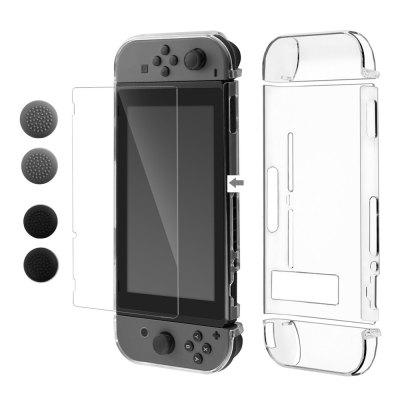 PC Back Case with Screen  Tempered Glass Protector Film for Nintendo Switch