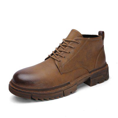 New High Band Super-Slim Men'S Boots in Autumn and Winter