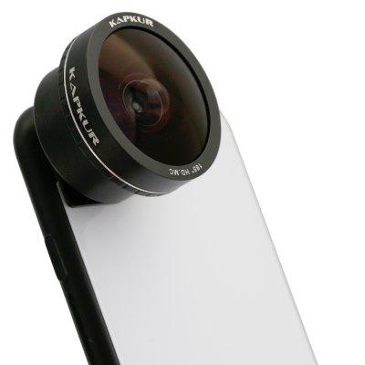 KAPKUR Mobile Phone Lens Fisheye Lens Suitable for Round Scenery for iPhone 7