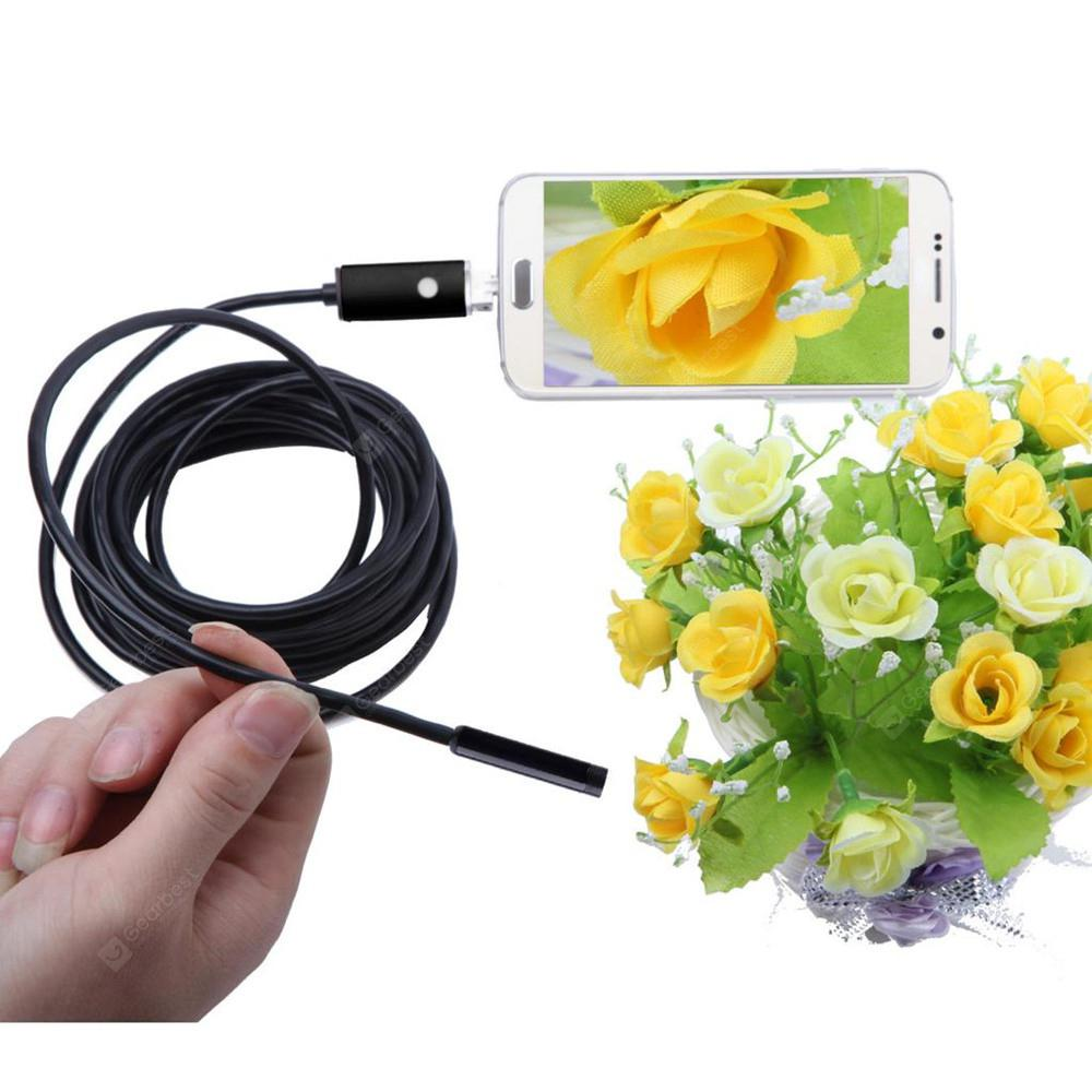 7mm 6Led Android Phone 2in1 Endoscope Inspection Borescope HD LED Camera Video