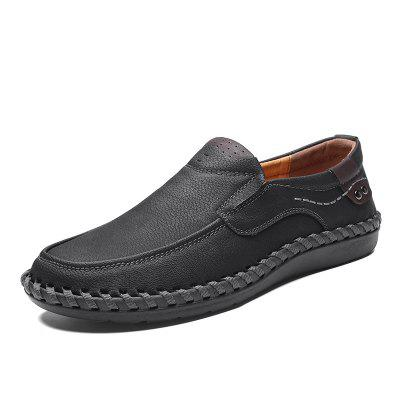Big Size New Arrival Split Leather Men Casual Shoes Fashion Top Quality Driving