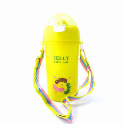 Baby Water Bottle With Straw Colorful Rope Cute Candy Pattern Kid Training Cup B