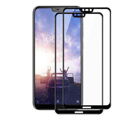 JOFLO 2pcs Full Screen 3D Tempered Glass Protector Film for Nokia X6