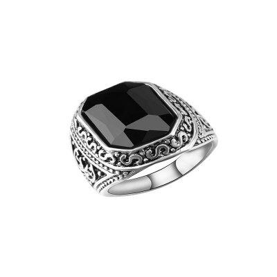 Jindian Fashion Men's Gemstone Ring