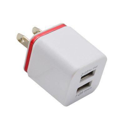 US USB Double Wall Schnellladegerät Plug Adapter 1A 2A 5V für Android für iPhone