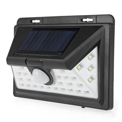 LED Human Infrared Solar Power Flood Light PIR Motion Sensor Wall  Lamp Outdoor