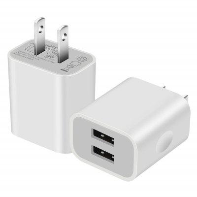 5V 2A Universal 2 USB Port Type Wall Charger For Home Travel Dual USB Wall Charg