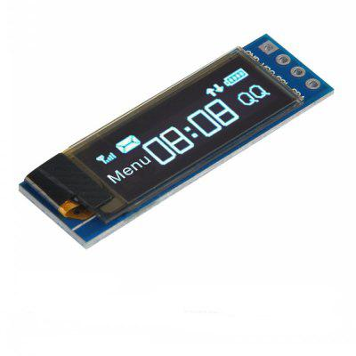 1pcs I2C OLED 0. 91 Inch Display Module Screen Driver DC 3. 3V-5V for Arduino