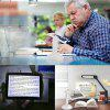 Brighter Viewer Rotating 3X LED Screen Page Reading Magnifier with Stand - WHITE