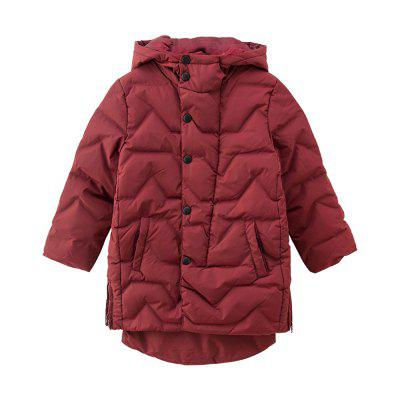 Fashion Girls Cotton Quilted Hooded Jacket To Keep Warm