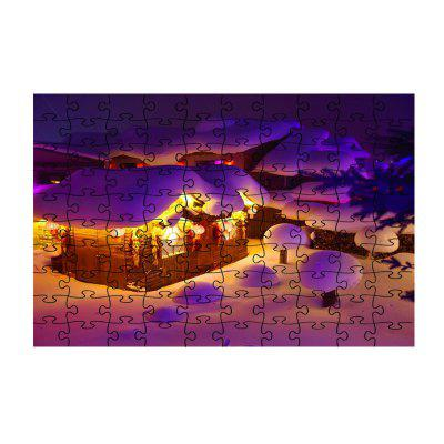 Beautiful Snowing Countryside Jigsaw Toy