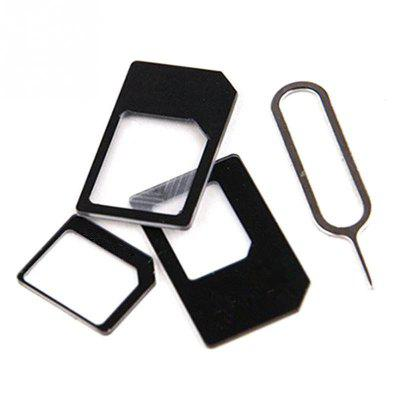 For iPhone 4/4S SIM Card Transformation for iPhone 5/5S/5C 4 In 1 SIM Adapte