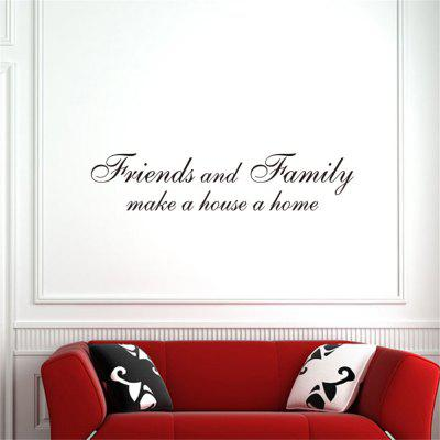 friends and Family Art Vinyl Mural Home Room Decor Wall Stickers