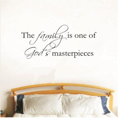 The Family Art Vinyl Mural Home Room Decor Wall Stickers