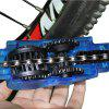 Portable Bicycle Chain Cleaner Bike Clean Machine Brushes Scrubber Wash Tool - OCEAN BLUE