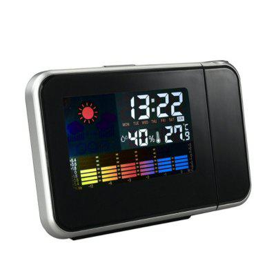 Digital Projection Alarm Clock Weather Multi Function Desk Table Alarm LED Wall