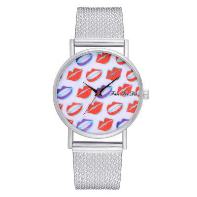 Ms New Silicone Watch with Red Mirror Fashion Quartz Watch