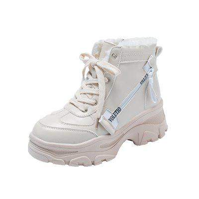 Thick Bottom with A Hundred Student Boots Comfortable Boots