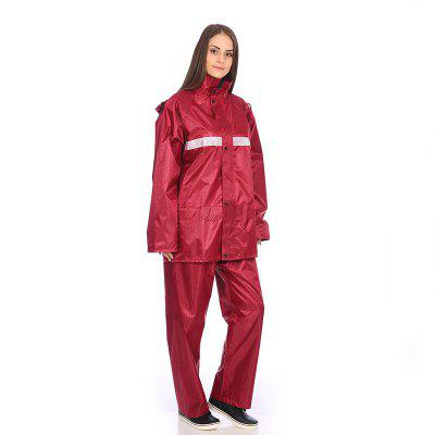 Jacquard Fabric Raincoat Rain Suit Jacket with Pants for Outdoor Activity