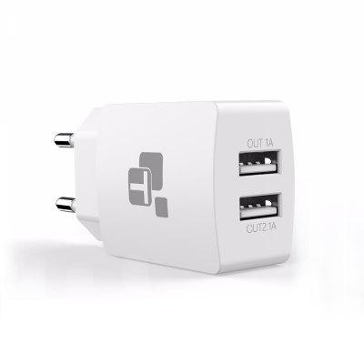 TIEGEM EU Plug 2 Port Podwójna ładowarka USB Adapter Mobile Phone Smart Charger