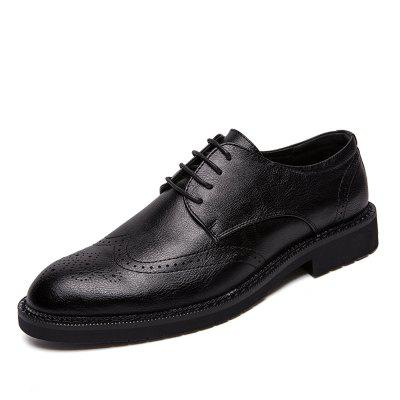Men's Leather Shoes Nightclub Pointed Brock Plus Size  Fashion Shoes