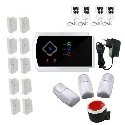 Wireless GSM Alarm System Android Ios APP Control Home Security Alarm System